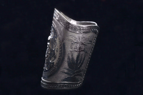 Peruvian Wide Sterling Arm Cuff