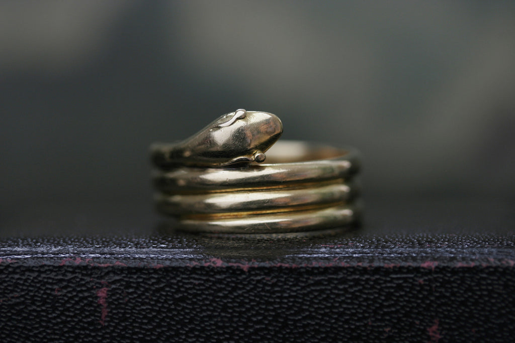 Triple Coiled Wide Snake Ring