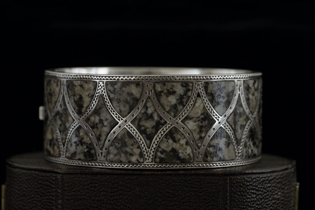Scottish Sterling and Aberdeen Granite Bangle