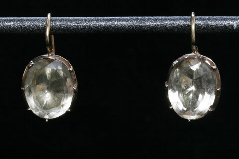 Georgian Foiled Aquamarine Earrings