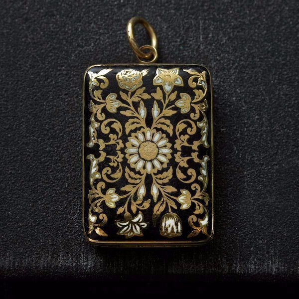Early 19th Century Enamel Vinaigrette Pendant