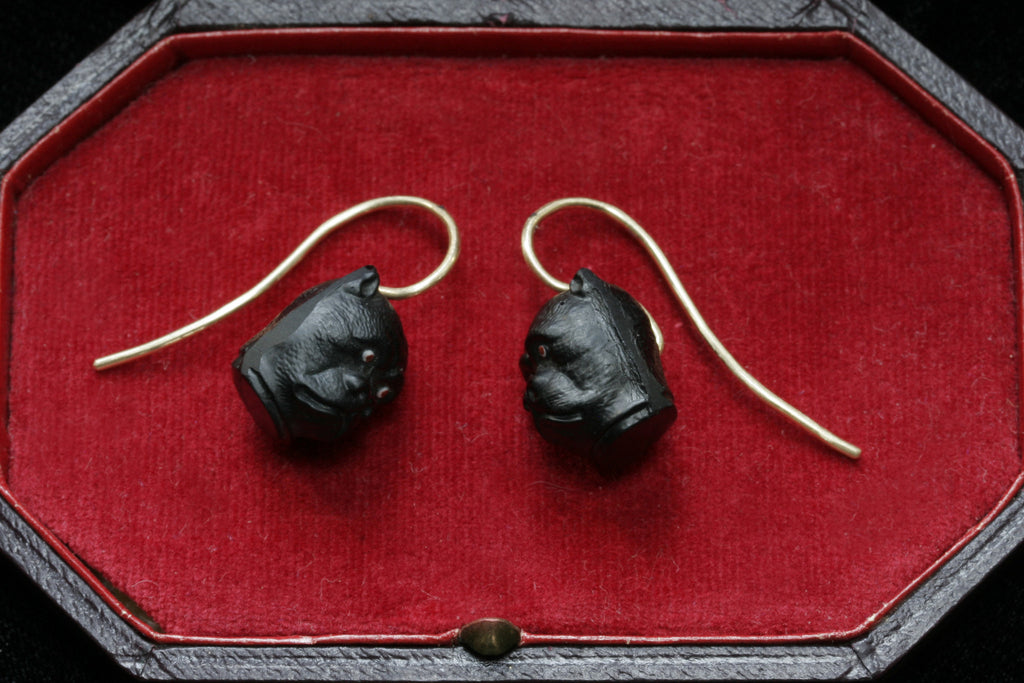Late Victorian Bulldog Earrings