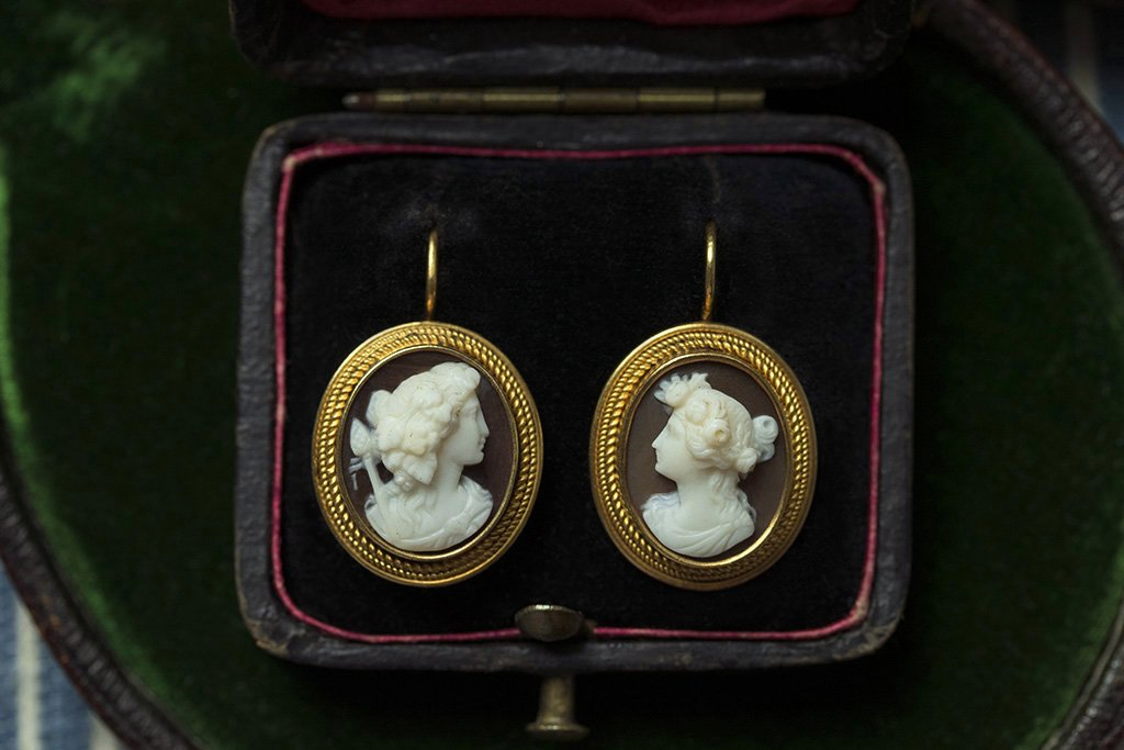 Victorian Cameo Earrings