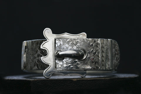 Victorian Sterling Buckle Bangle