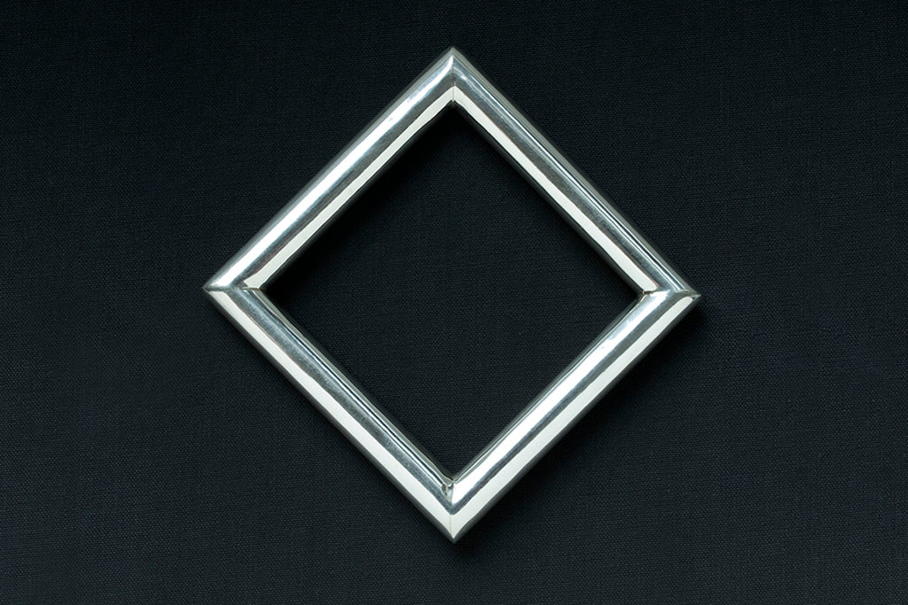 Vintage Sterling Silver Square Bangle