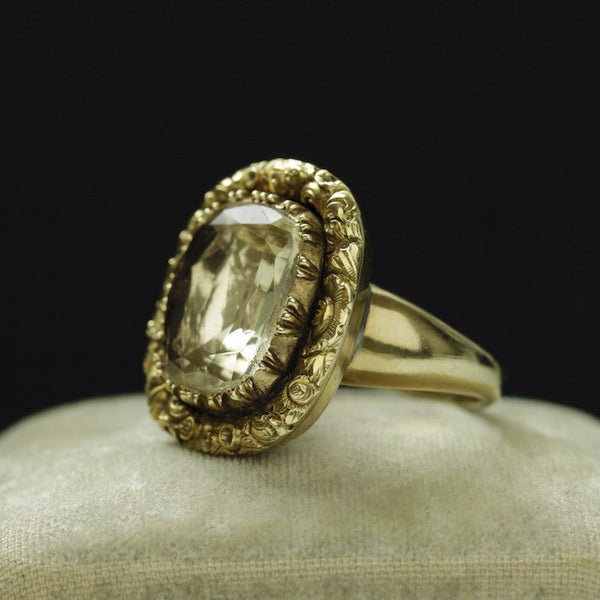 Early 19th Century Large Citrine Ring