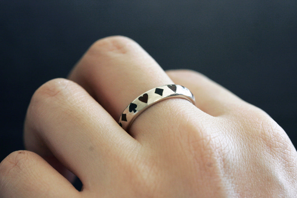 Vintage 'The Four Suits' Sterling Ring