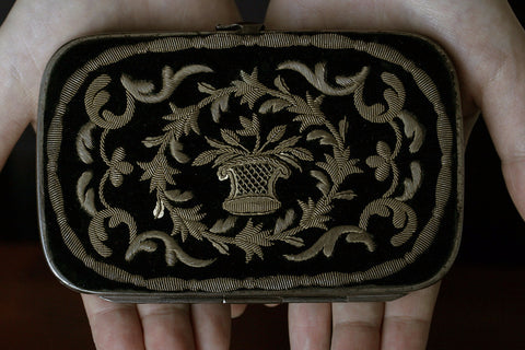 Victorian Purse with Golden Embroidery