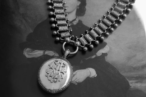 Mid-Victorian Sterling Silver Oversized Locket