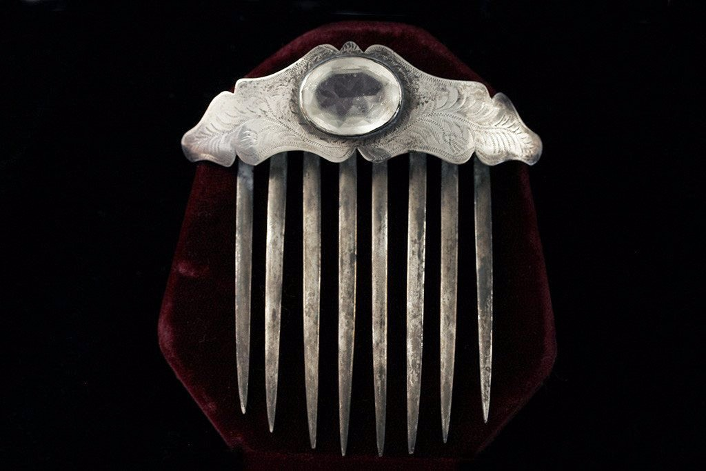 Victorian Sterling Silver Hair Comb