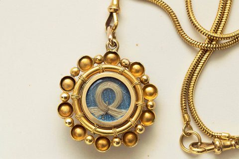 Victorian Coral and Pearl Gold Pendant Locket