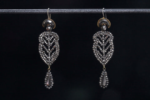 Georgian Crescent Cut Steel Earrings