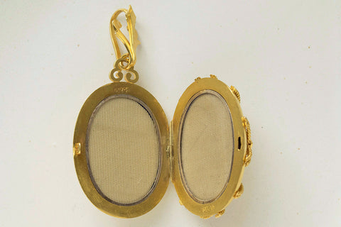 Victorian Oversized Gold Locket