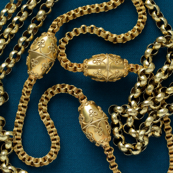 Victorian Etruscan Gold Necklace