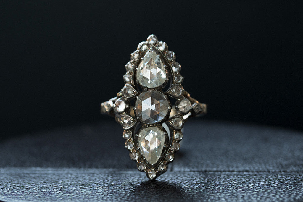 Georgian Rose Cut Diamond Ring