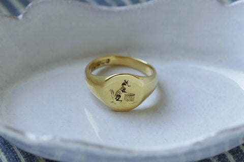 C.1925 Fox Signet Ring
