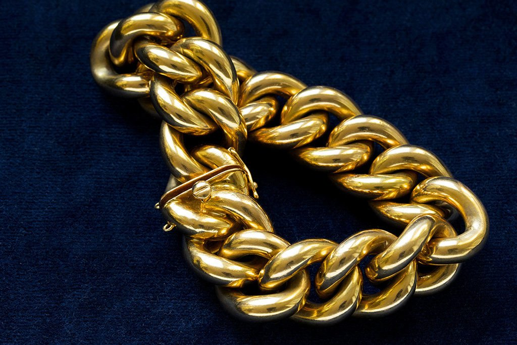 C.1930. French Curb Chain Bracelet
