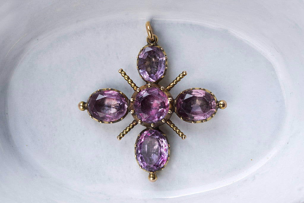 Georgian Amethyst Cross Pendant