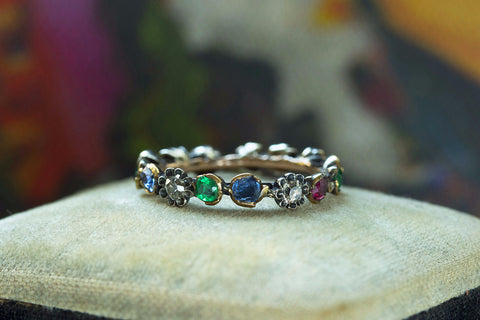 Georgian Multi-Gemstone Eternity Ring