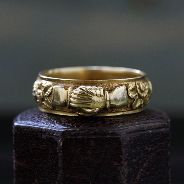 Georgian Clasped Hands Ring