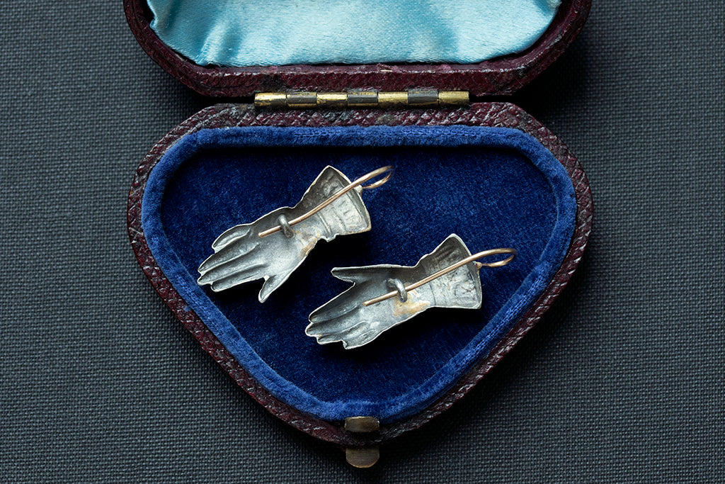 Victorian Hand Motif Earrings
