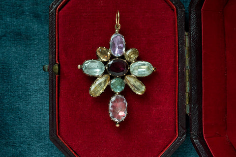 Early 19th Century Harlequin Pendant