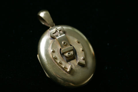 Victorian Horseshoe and Buckle Locket