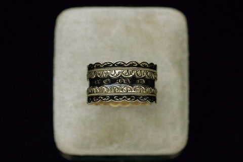 C.1831. Black Enamel Wide Mourning Ring