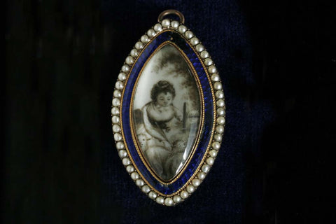 Georgian Miniature Mourning Brooch/Pendant