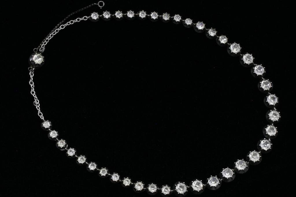 Georgian Large Paste Rivière Necklace
