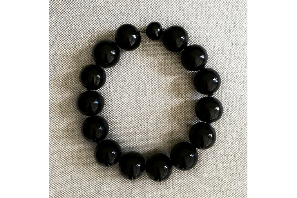 Victorian Extra Large Whitby Jet Bead Necklace