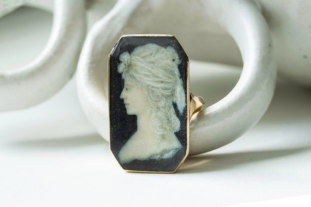 18th Century Miniature Portrait Ring