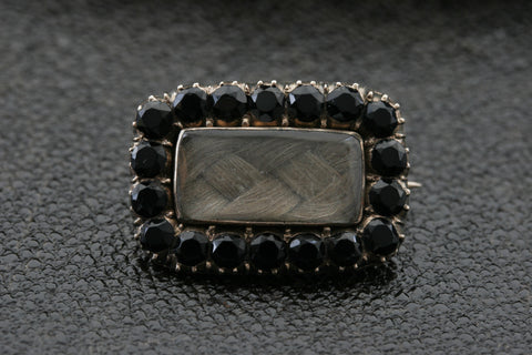 Early 19th Century French Jet Mourning Pin