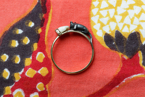 Victorian Mouse and Cheese Ring