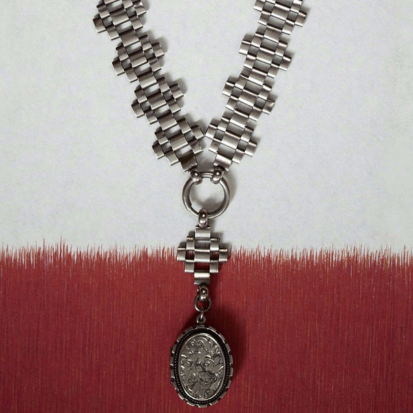 Victorian Silver Collar and Locket