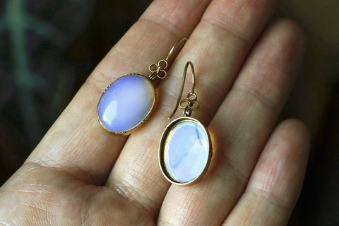 Victorian Opaline Paste Earrings