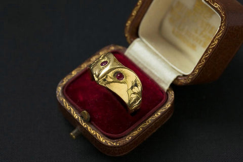 Art Nouveau French Owl Ring
