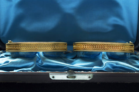 Pair of Victorian Matched Set of Gold Bangles