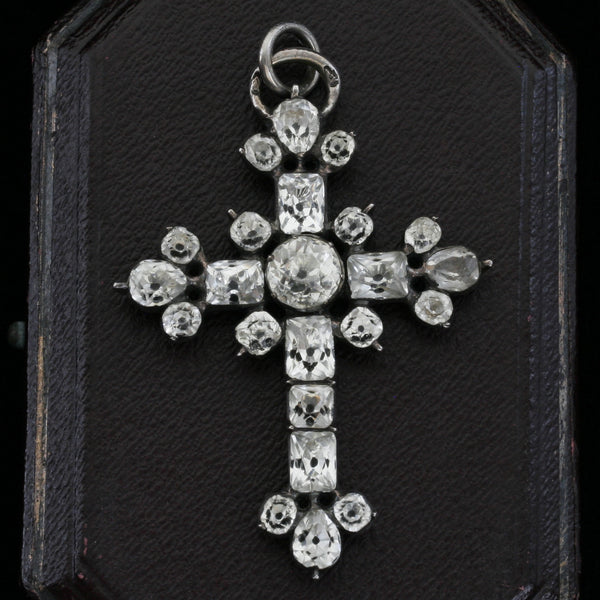 Georgian Paste Cross Pendant