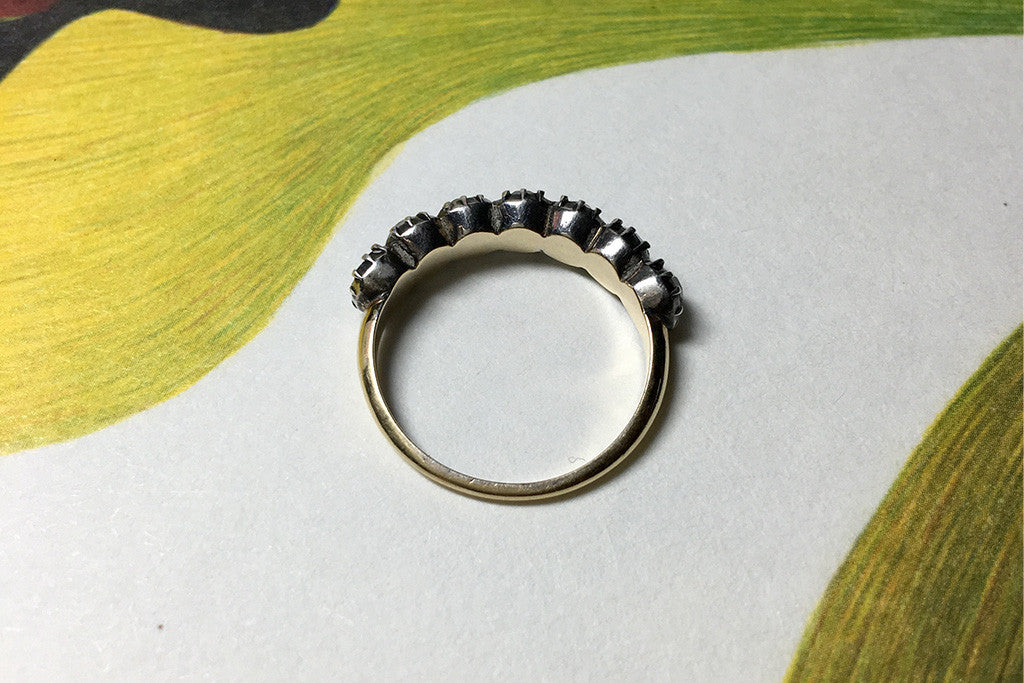 Georgian Half Hoop Paste Ring