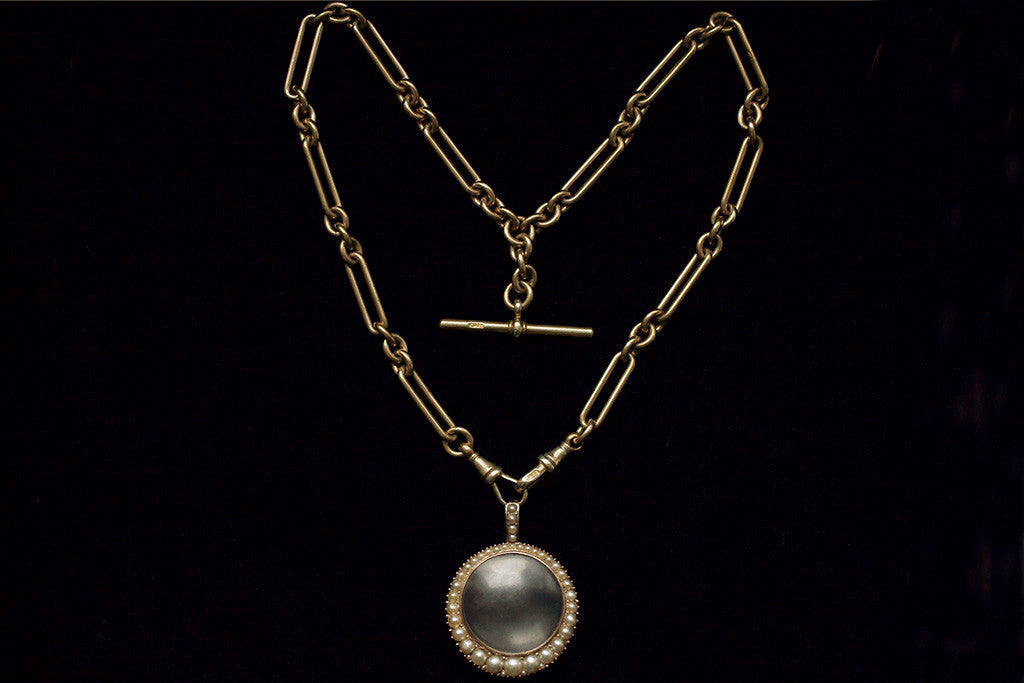 Georgian Pearl and Rose Gold Locket
