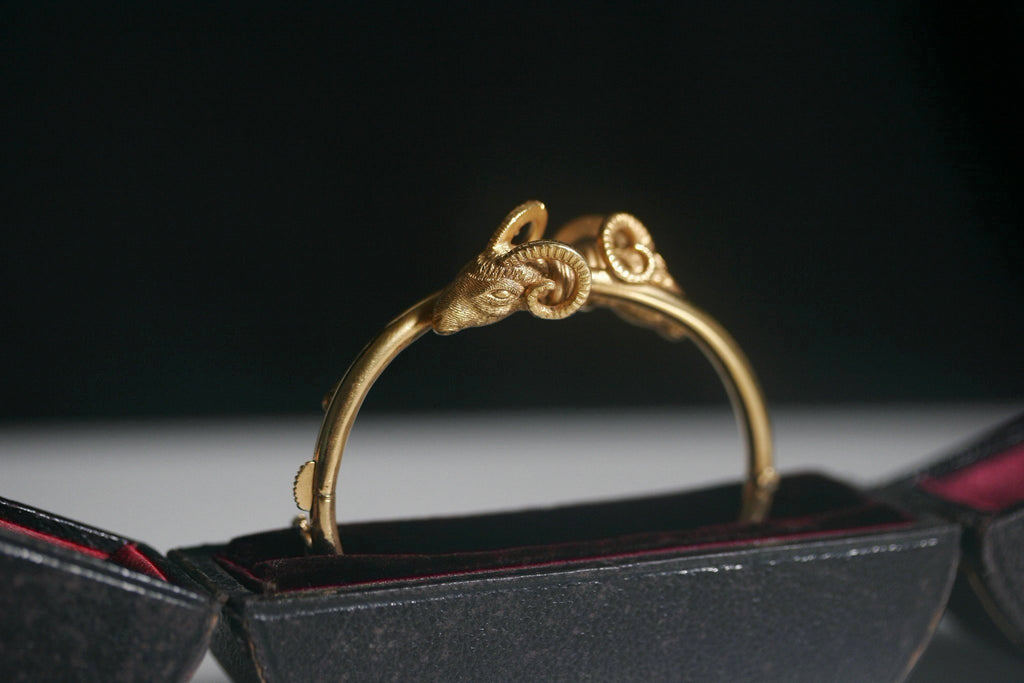 Victorian Ram's Head Gold Bangle