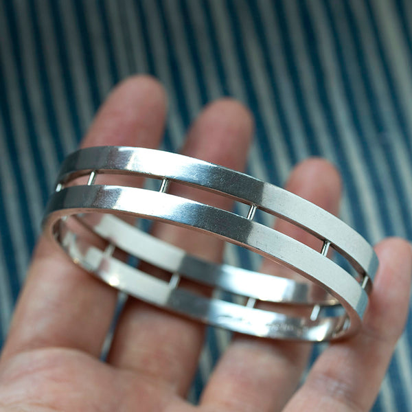 Danish Modernist Hans Hansen Silver Bangle