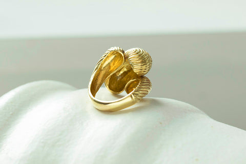 Chunky Retro Bypass 18k Gold Ring