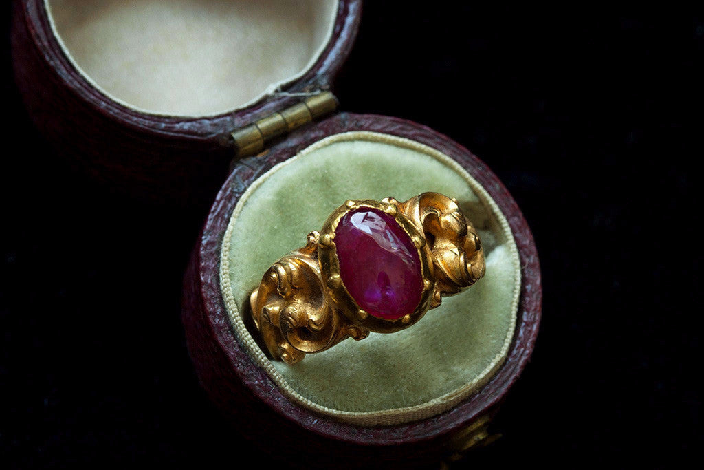 Early Victorian Ruby Cabochon Ring