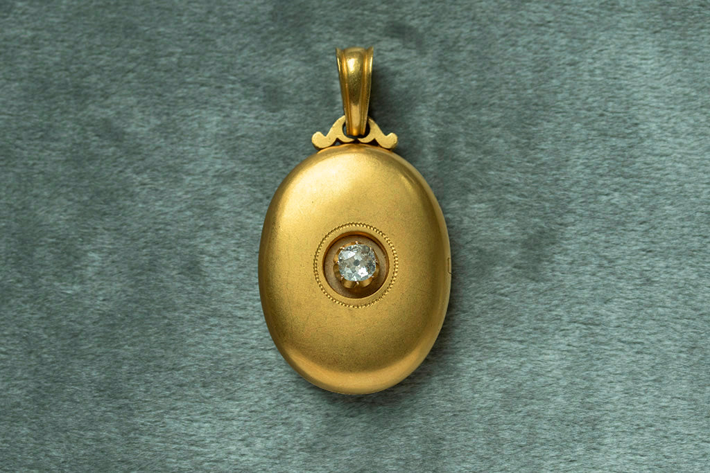 Victorian Era Russian Gold Diamond Locket