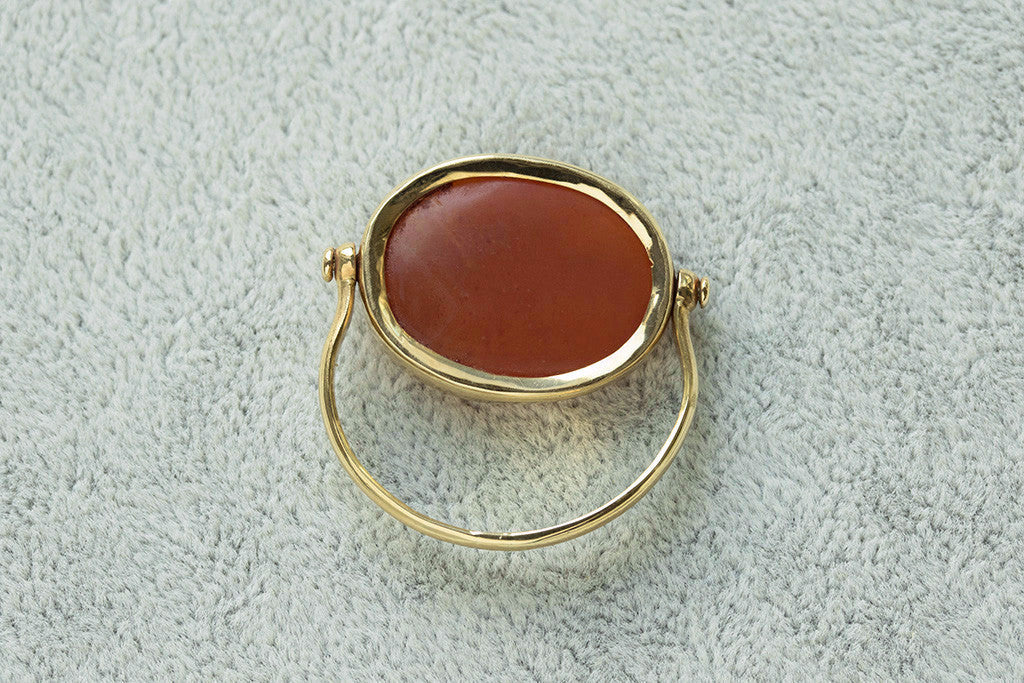 Sasanian Intaglio Swivel Ring