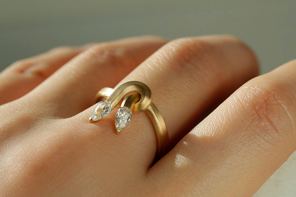 Leen Heyne x LAELIUS Double Serpent Ring