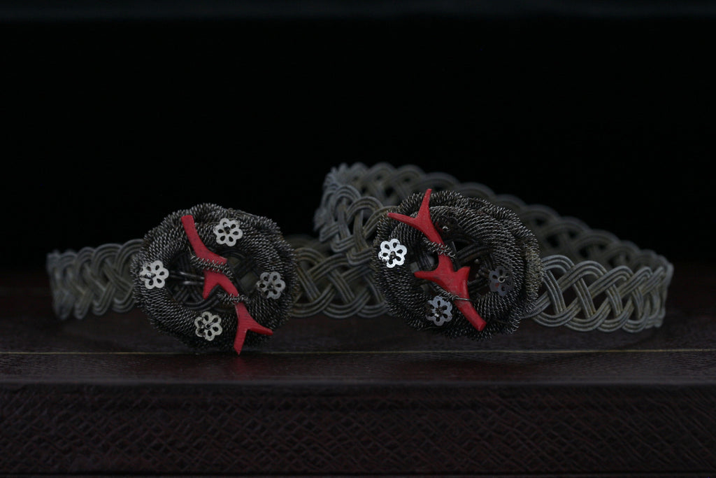 Pair of Silesian Iron Bracelets