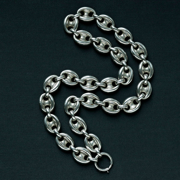 Victorian Sterling Silver Anchor Chain